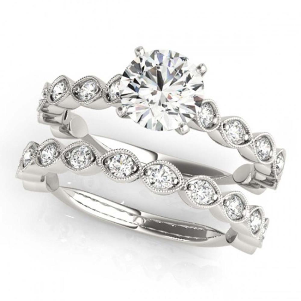 1.77 ctw VS/SI Diamond 2pc Wedding Set 14K White Gold - REF-171A2V - SKU:31610