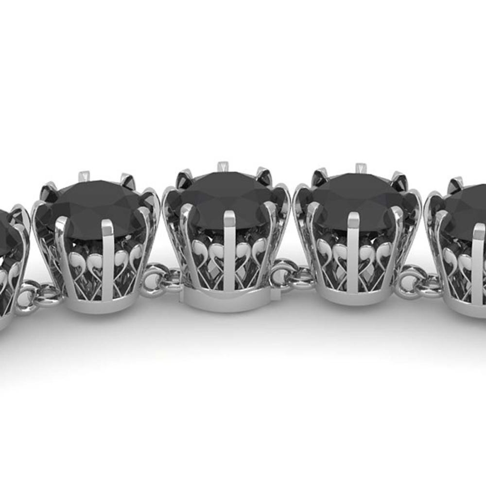 34 ctw Black VS Diamond Necklace 14K White Gold - REF-930H2M - SKU:29643