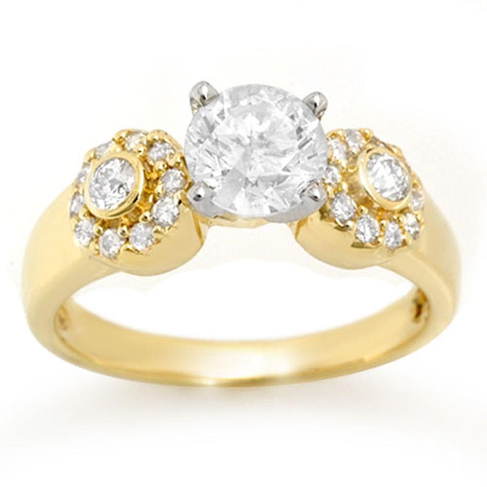 1.38 ctw VS/SI Diamond Ring 14K Yellow Gold - REF-351M3F - SKU:11358