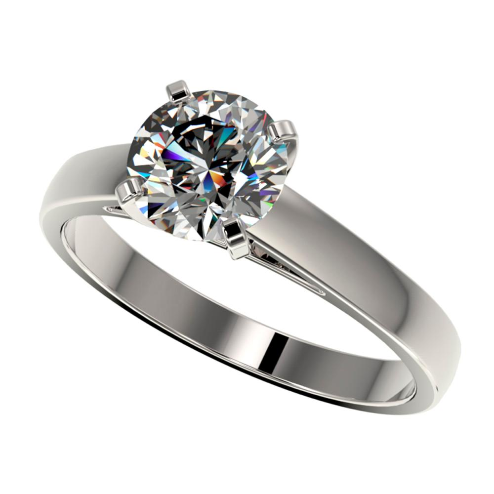 1.50 ctw H-SI/I Diamond Ring 10K White Gold - REF-339A2V - SKU:33019