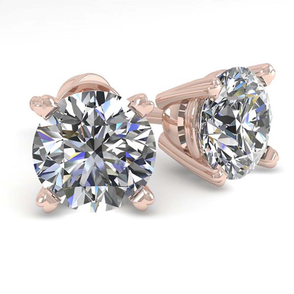 1.50 ctw VS/SI Diamond Stud Earrings 18K Rose Gold - REF-253A3V - SKU:32294