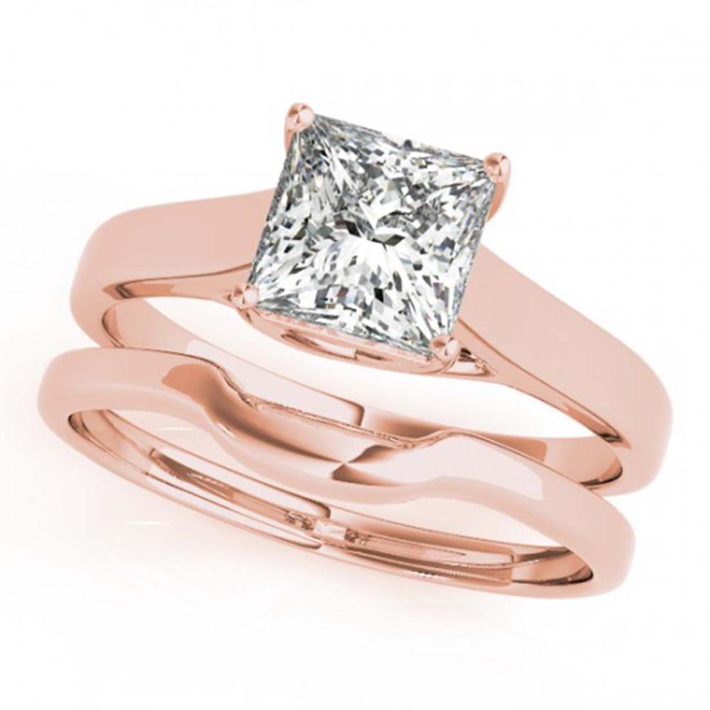 0.75 ctw VS/SI Princess Diamond 2pc Wedding Set 14K Rose Gold - REF-153V5Y - SKU:32103