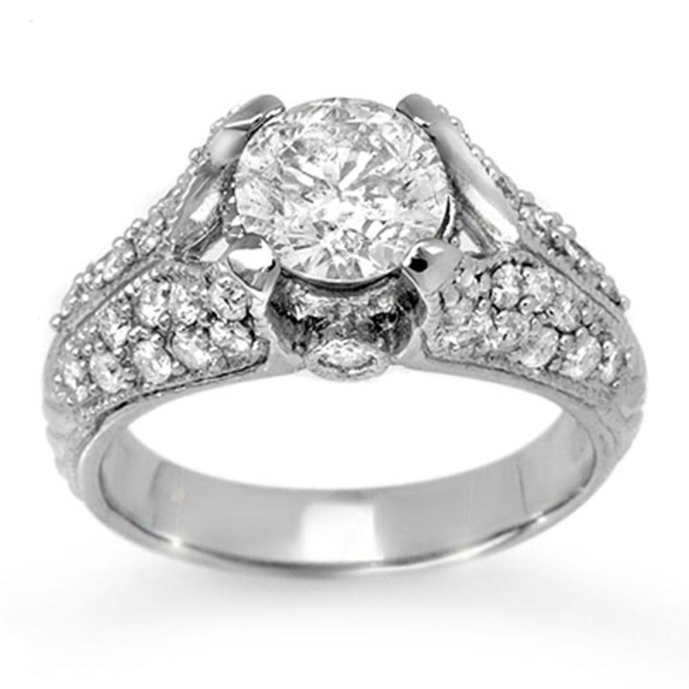 2.20 ctw VS/SI Diamond Ring 18K White Gold - REF-569K3W - SKU:11868