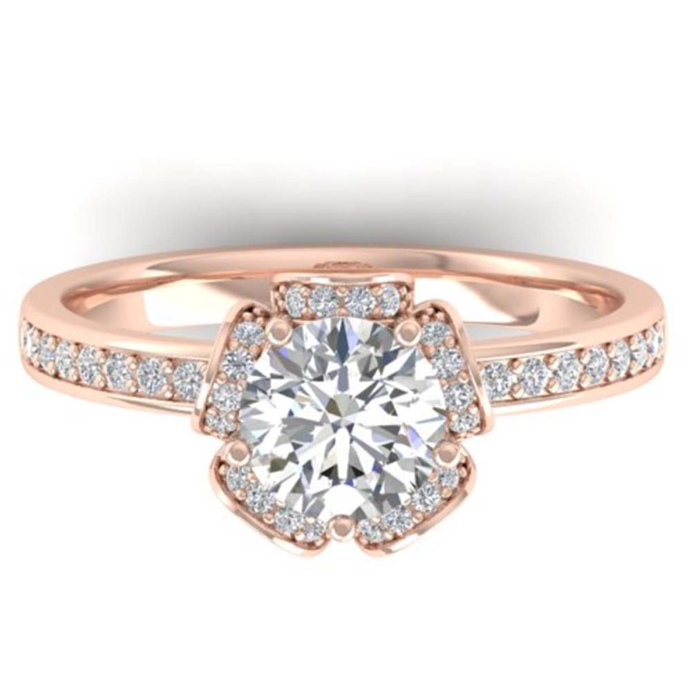1.75 ctw VS/SI Diamond Art Deco Ring 14K Rose Gold - REF-341X5R - SKU:30274
