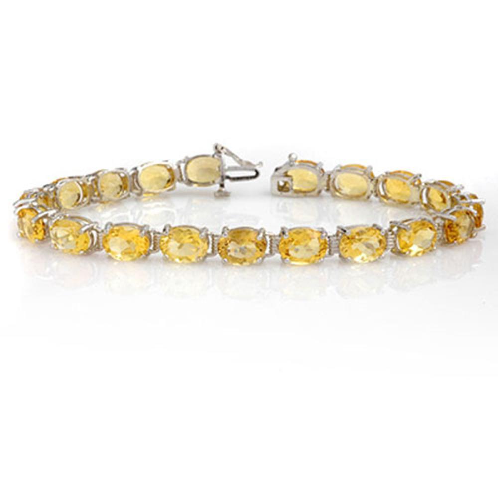 25.67 ctw Citrine Bracelet 10K White Gold - REF-57M3F - SKU:14291