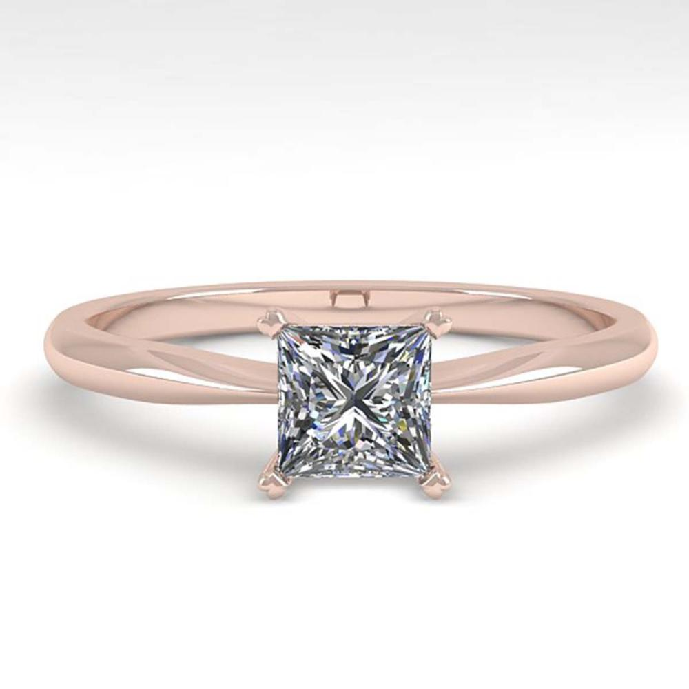 0.52 ctw VS/SI Princess Cut Diamond Ring 14K White Gold - REF-84A2V - SKU:32154