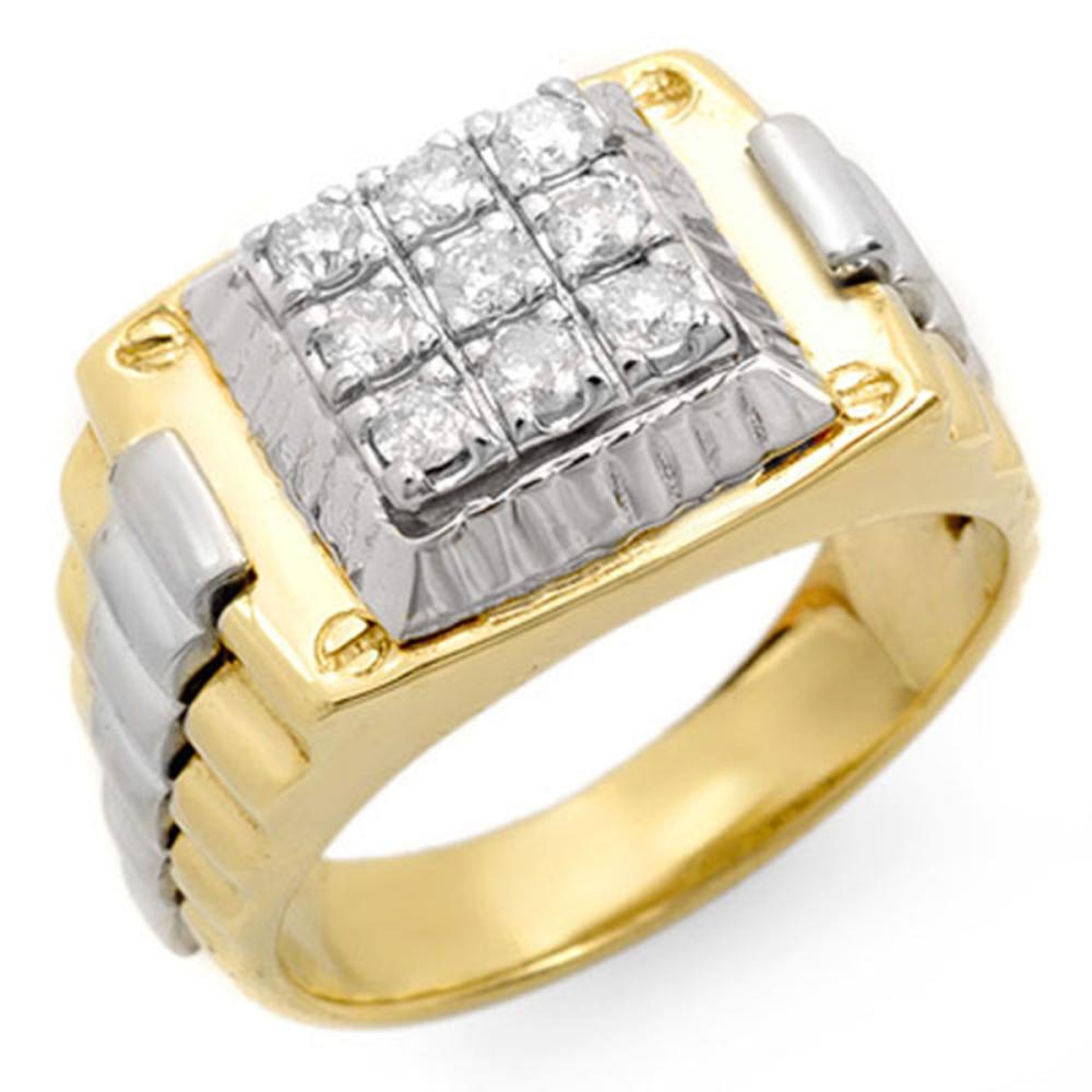 0.50 ctw VS/SI Diamond Men's Ring 10K 2-Tone Gold - REF-84V5Y - SKU:14419