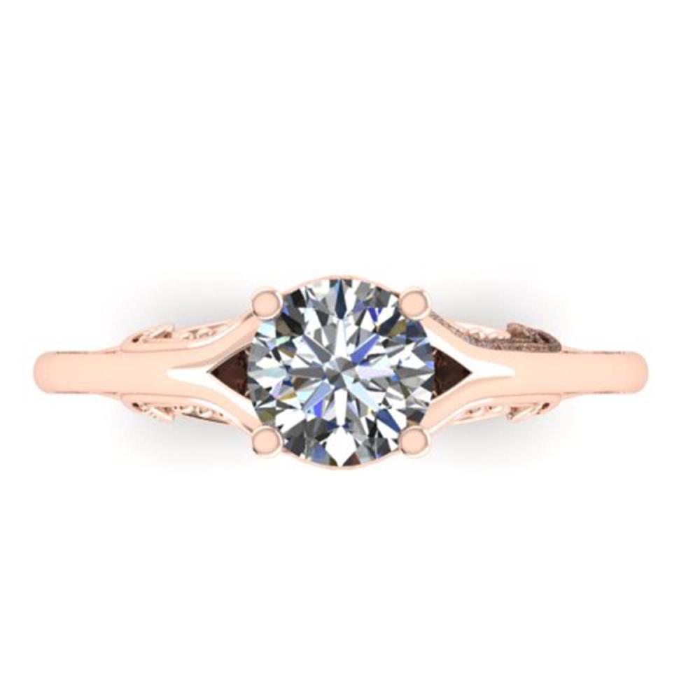 1 ctw Solitaire VS/SI Diamond Ring 14K Rose Gold - REF-295Y3X - SKU:38542
