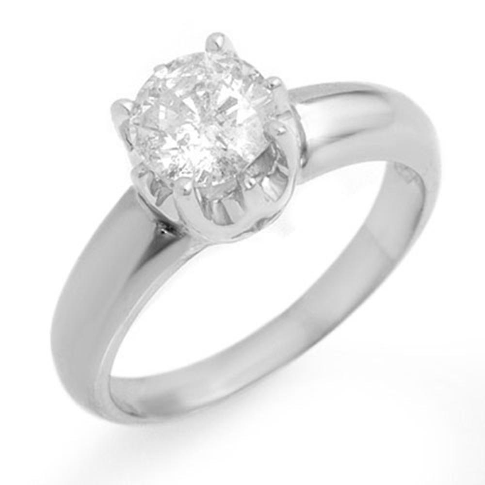 1.0 ctw VS/SI Diamond Solitaire Ring 18K White Gold - REF-301Y4X - SKU:11136