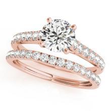 1.61 CTW Certified VS/SI Diamond Solitaire 2pc Wedding Set  14K Gold - REF#-225T6K-31701
