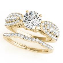 2.26 CTW Certified VS/SI Diamond Solitaire 2pc Wedding Set  14K Gold - REF#-487M3R-31909