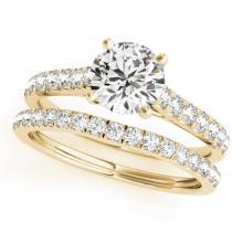 1.61 CTW Certified VS/SI Diamond Solitaire 2pc Wedding Set  14K Gold - REF#-225Y6M-31702