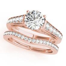 1.45 CTW Certified VS/SI Diamond Solitaire 2pc Wedding Set  14K Gold - REF#-232M7R-31626