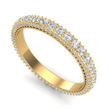 2.50 CTW VS/SI DIAMOND ART DECO ETERNITY MEN'S BAND SIZE 10 18K Gold - REF#-200N2A-37210