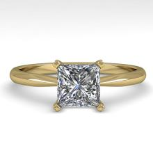 1 CTW PRINCESS CUT CERTIFIED VS/SI DIAMOND ENGAGMENT RING 18K Gold - REF#-282Y2M-32416