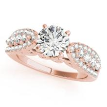 1.45 CTW Certified VS/SI Diamond Solitaire Bridal  Ring 18K Rose Gold Gold - REF#-240N4A-27871