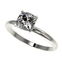 1 CTW Certified VS/SI Quality Cushion Cut Diamond Solitaire Ring Gold - REF#-270K3W-32900