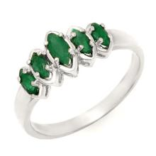 0.50 ctw Emerald Ring 18K White Gold - REF#-31N6A-13143