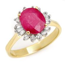 2.02 ctw Ruby & Diamond Ring 14K Yellow Gold - REF#-47A8X-13725