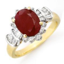 2.22 ctw Ruby & Diamond Ring 14K Yellow Gold - REF#-62V2Y-13071