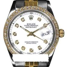 Rolex Ladies 2Tone 14K Gold/ Stainless Steel, Diamond Dial & Diamond Bezel, Saph Crystal - REF#316V4H