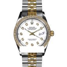 Rolex Ladies 2Tone 14K Gold/ Stainless Steel, Diamond Dial & Diamond Bezel, Saph Crystal - REF#321X8G