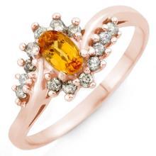 0.55 ctw Yellow Sapphire & Diamond Ring 14K Rose Gold - REF#-29M8F-10275