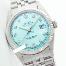 Rolex Ladies Stainless Steel, Diamond Dial Fluted Bezel, Saph Crystal - REF#261Z8F