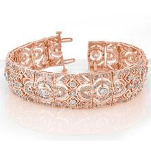 8.0 CTW Certified VS/SI Diamond Bracelet 14K Rose Gold - REF-579H5W - 11471