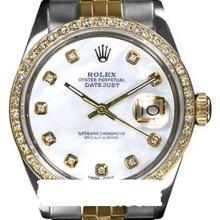 Rolex Men's 2Tone 14K Gold/ SS, QuickSet, Diamond Dial & Diamond Bezel - REF#469Y3N