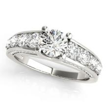 3.05 CTW Certified VS/SI Diamond Bridal Solitaire  Ring 18K White Gold Gold - REF#-675A3X-28140