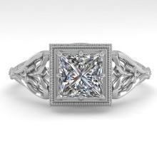 1.0 CTW VS/SI PRINCESS DIAMOND SOLITAIRE ENGAGMENT RING DECO Gold - REF#-344H4M-36042