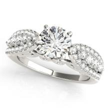 1.45 CTW Certified VS/SI Diamond Solitaire Bridal  Ring 18K White Gold Gold - REF#-240X4T-27870