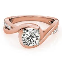 0.9 CTW Certified VS/SI Diamond Solitaire Bridal  Ring 18K Rose Gold Gold - REF#-206G7N-27454