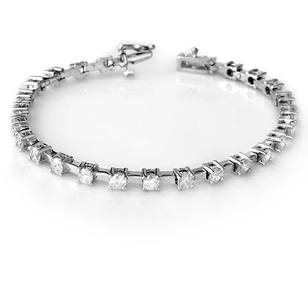 5.0 ctw VS/SI Diamond Bracelet 18K White Gold - REF-431K5R - SKU:10089