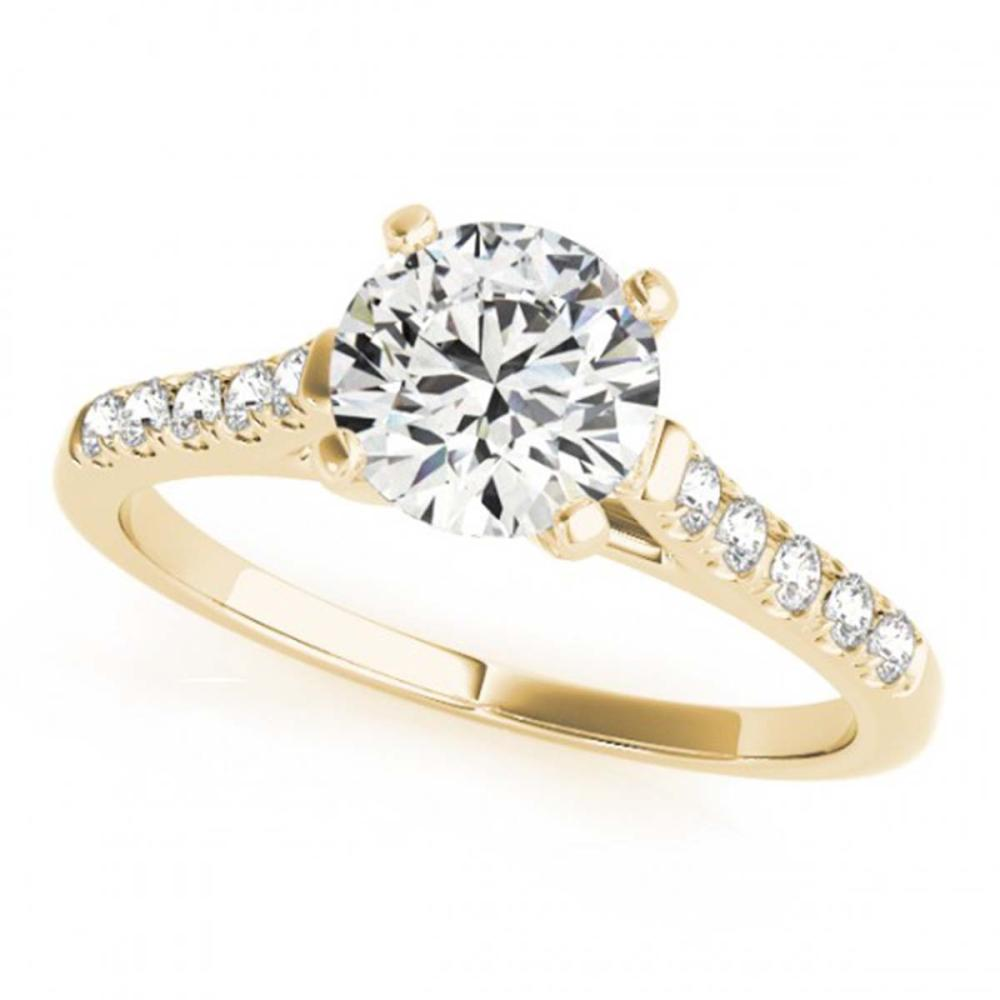 0.97 ctw VS/SI Diamond Ring 18K Yellow Gold - REF-187N3P - SKU:27581