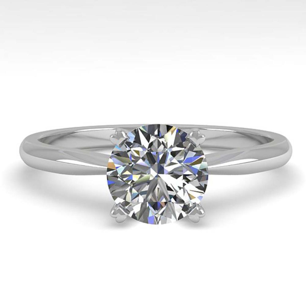 1.0 ctw VS/SI Diamond Engagement Designer Ring 14K White Gold - REF-272N3P - SKU:38452