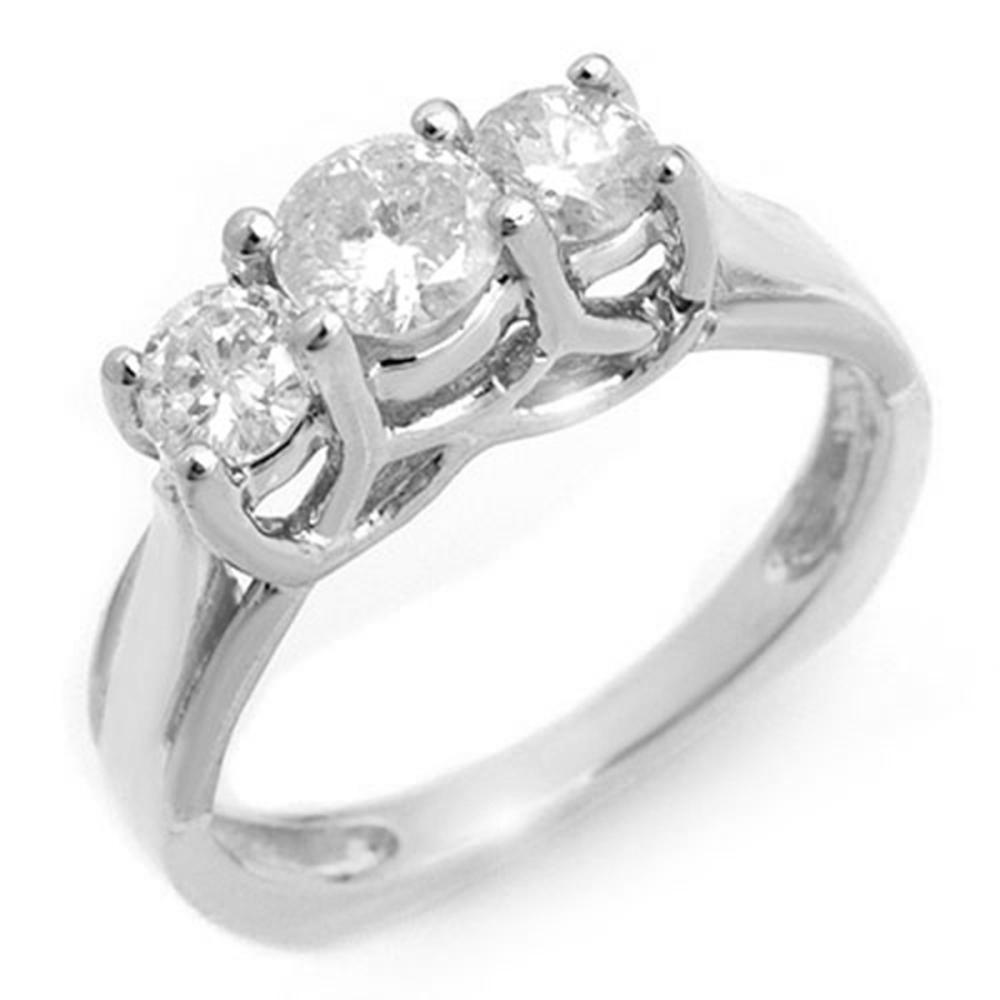0.75 ctw VS/SI Diamond Ring 14K White Gold - REF-84R5H - SKU:10262
