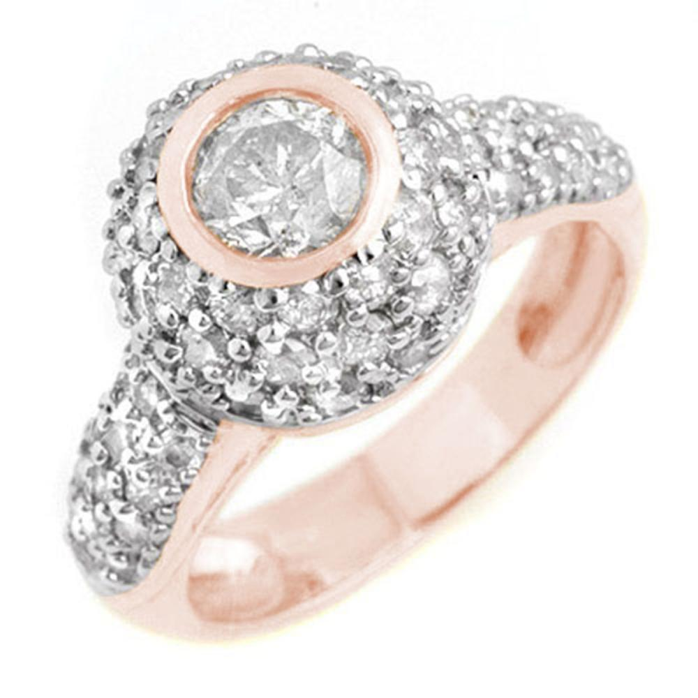 2.20 ctw VS/SI Diamond Ring 18K Rose Gold - REF-195W3F - SKU:13360