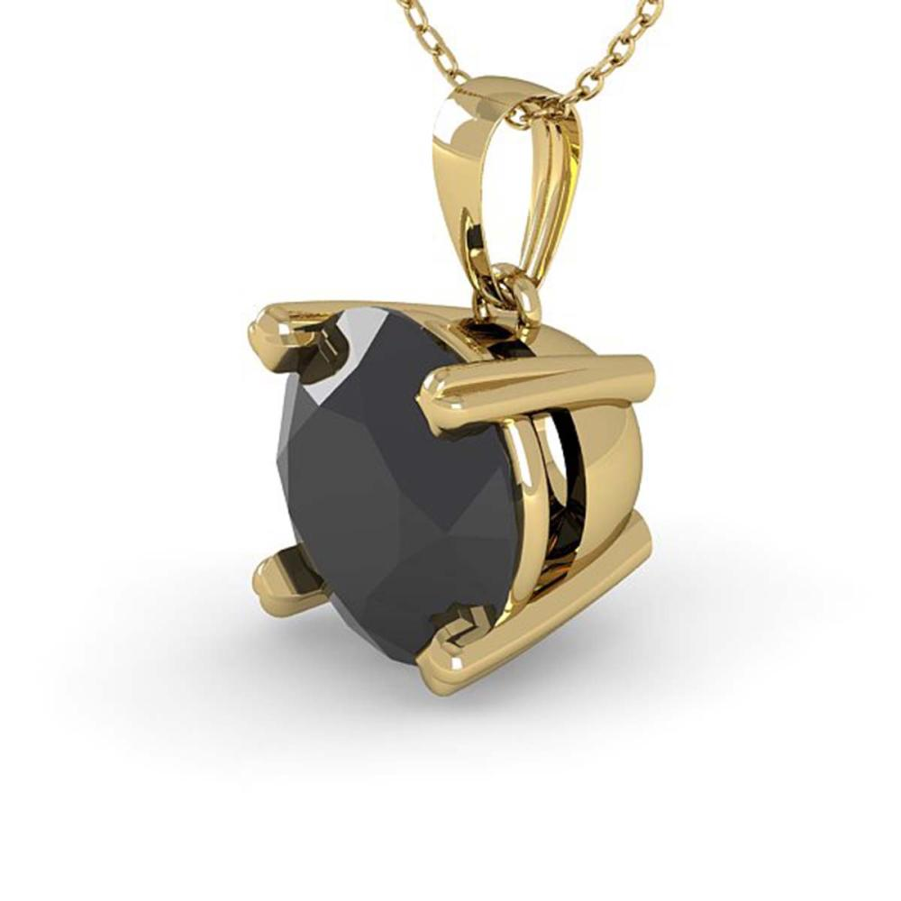 1 ctw Black Diamond Designer Necklace 14K Yellow Gold - REF-33H3W - SKU:38420
