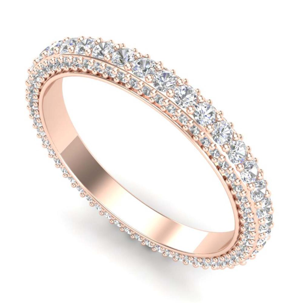 1.75 ctw VS/SI Diamond Art Deco Eternity Ring 18K Rose Gold - REF-149Y3K - SKU:37212