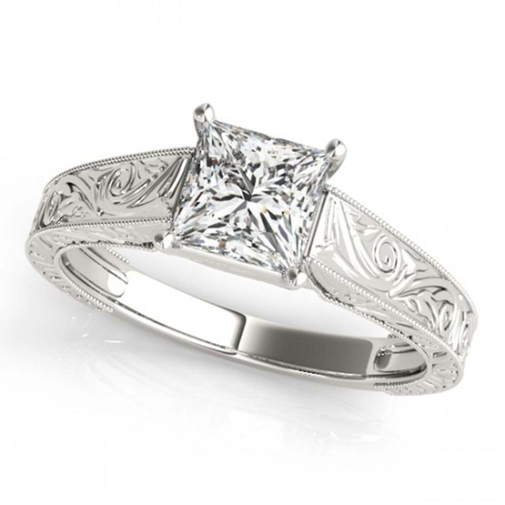 0.75 ctw VS/SI Princess Diamond Ring 18K White Gold - REF-180Y2K - SKU:28122