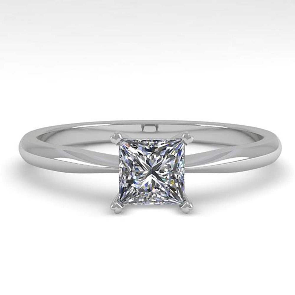 0.55 ctw Princess Cut VS/SI Diamond Engagement Ring 18K White Gold - REF-84Y2K - SKU:32394