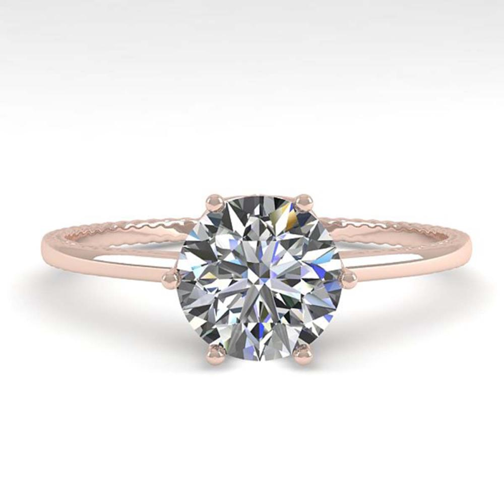 1.01 ctw VS/SI Diamond Engagement Ring 18K Rose Gold - REF-286H3W - SKU:35888