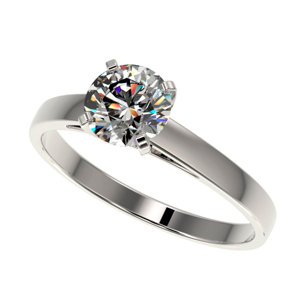 1.03 ctw H-SI/I Diamond Engagement Ring 10K White Gold - REF-199A5N - SKU:36504