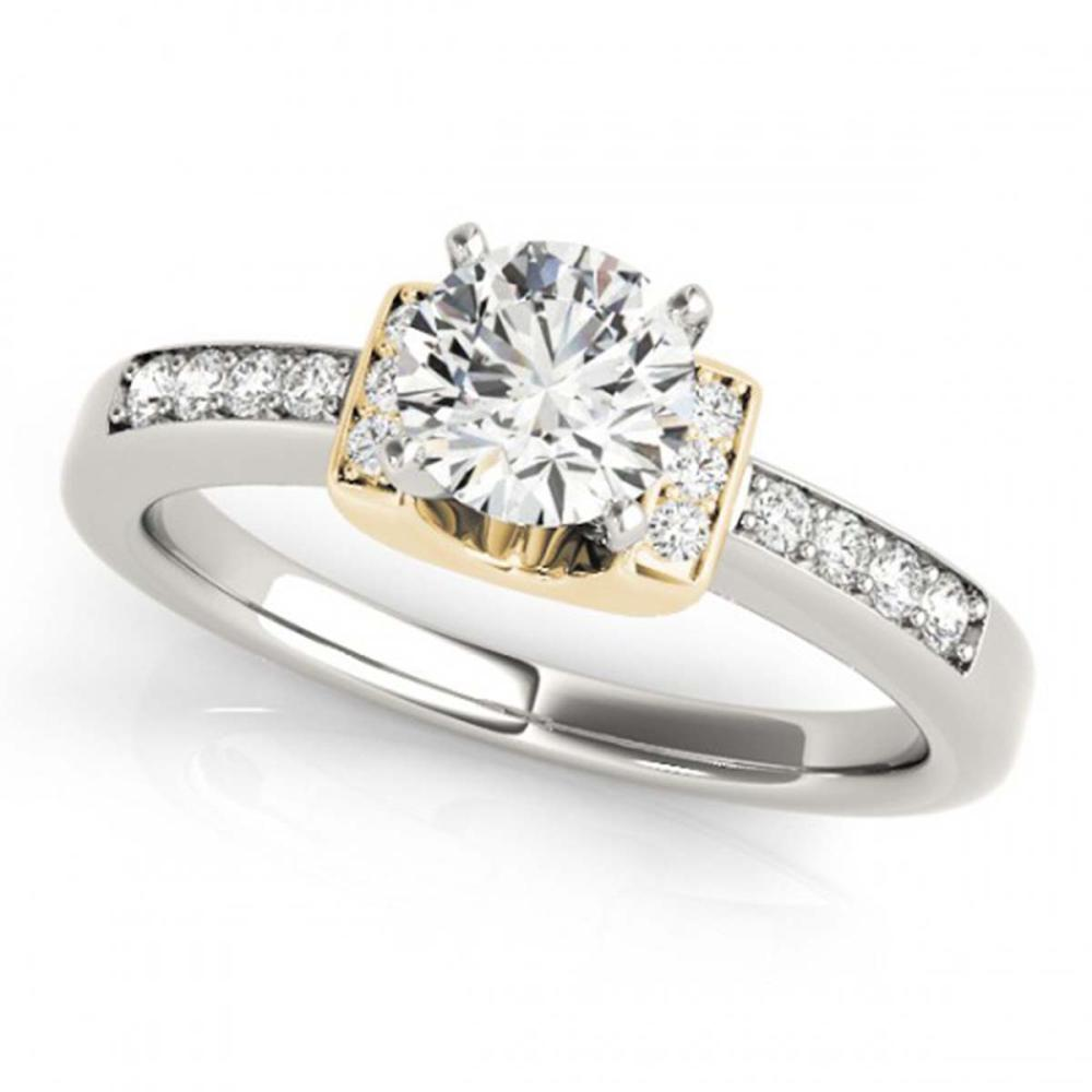 0.61 ctw VS/SI Diamond Solitaire Ring 18K 2-Tone Gold - REF-119R3H - SKU:27439