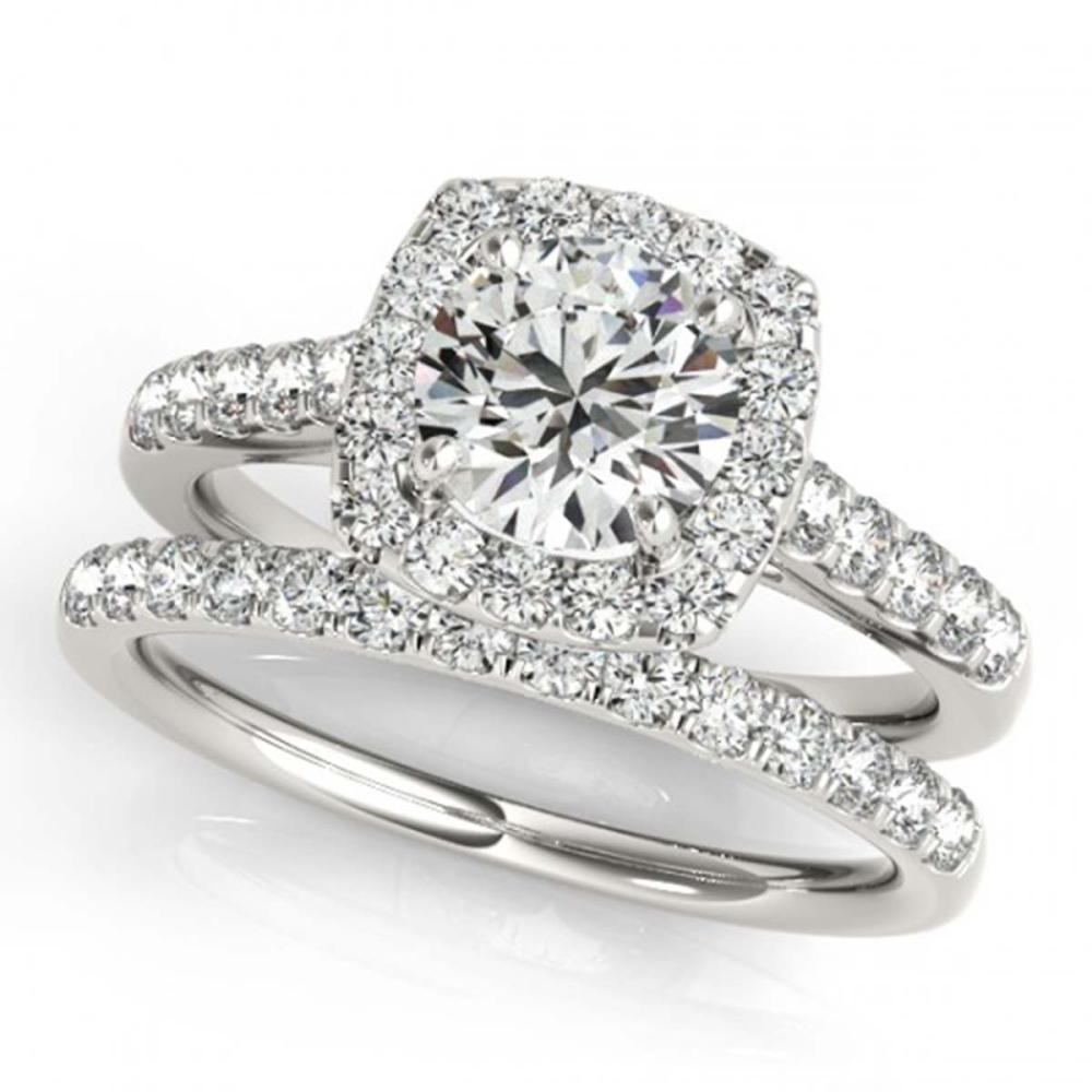 2.05 ctw VS/SI Diamond 2pc Wedding Set Halo 14K White Gold - REF-414P2X - SKU:30720