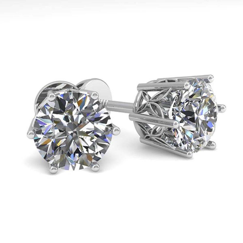 2.03 ctw VS/SI Diamond Stud Earrings 18K White Gold - REF-546A9N - SKU:35847