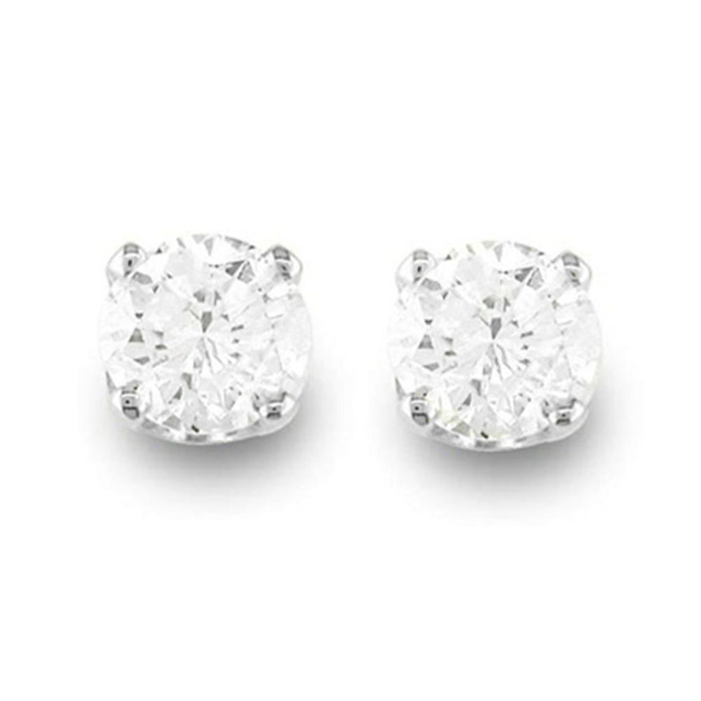 0.50 ctw VS/SI Diamond Stud Earrings 18K White Gold - REF-43W5F - SKU:12265