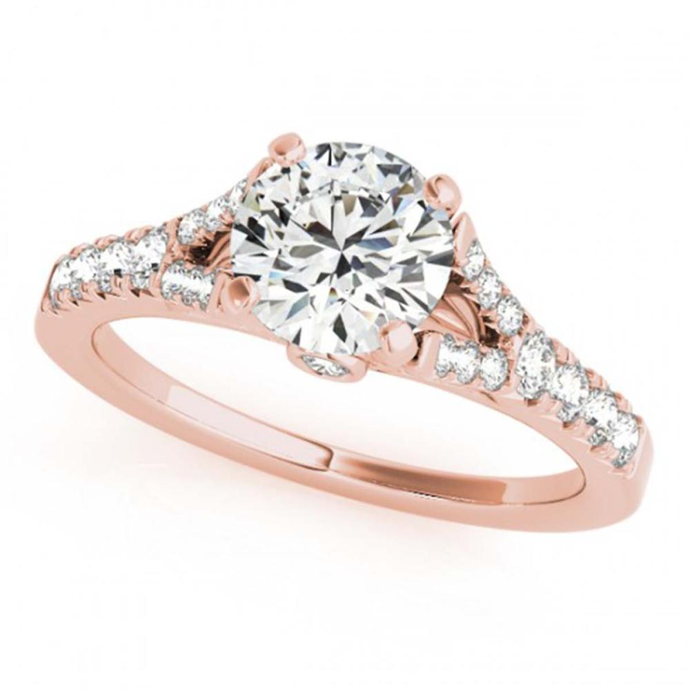 0.75 ctw VS/SI Diamond Ring 18K Rose Gold - REF-85R3H - SKU:27631